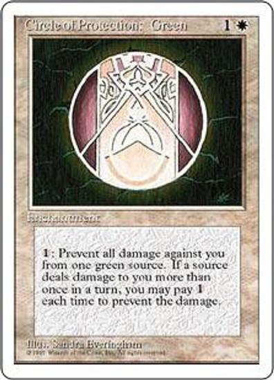 MtG 4th Edition Common Circle of Protection: Green
