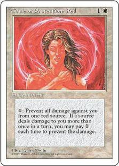 MtG 4th Edition Common Circle of Protection: Red
