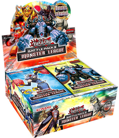 YuGiOh Trading Card Game Battle Pack 3 Monster League Booster Box [36 Packs]