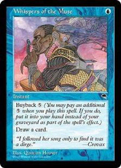 MtG Tempest Uncommon Whispers of the Muse