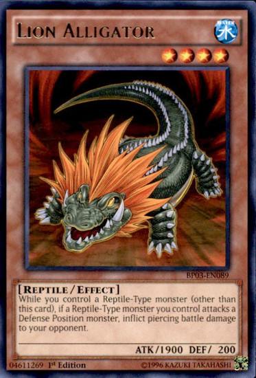 YuGiOh Battle Pack 3 Monster League Shatterfoil Rare Lion Alligator BP03-EN089 [Shatterfoil]