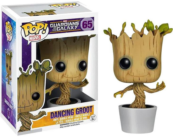 Funko Guardians of the Galaxy POP! Marvel Dancing Groot Vinyl Bobble Head #65 [White Pot]