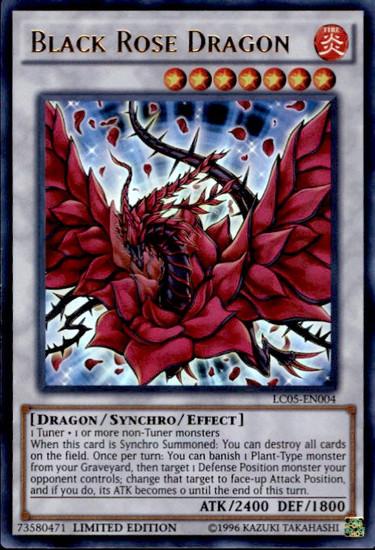 YuGiOh YuGiOh 5D's Legendary Collection 5 Ultra Rare Black Rose Dragon LC05-EN004