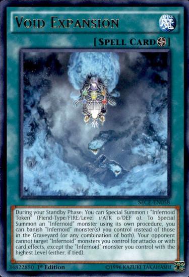 YuGiOh Secrets of Eternity Rare Void Expansion SECE-EN058