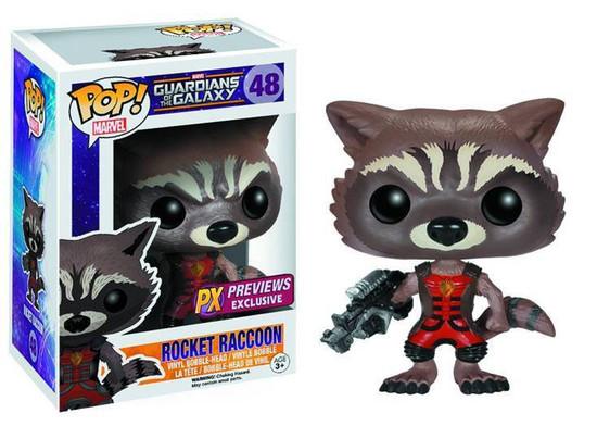 Funko Guardians of the Galaxy POP! Marvel Rocket Raccoon Exclusive Vinyl Bobble Head #48 [Ravagers Uniform]