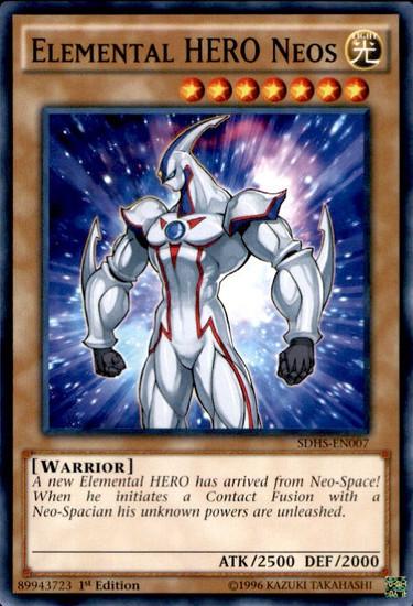 YuGiOh HERO Strike Structure Deck Common Elemental HERO Neos SDHS-EN007
