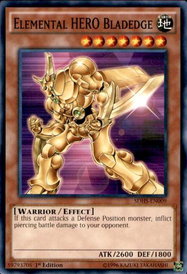 YuGiOh HERO Strike Structure Deck Common Elemental HERO Bladedge SDHS-EN009
