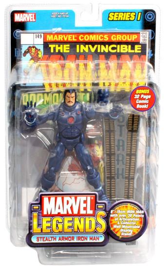 Marvel Legends Series 1 Iron Man Action Figure [Stealth Armor Variant]