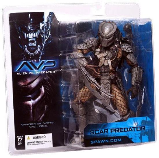 McFarlane Toys Alien vs Predator Alien vs. Predator Movie Scar Predator Action Figure