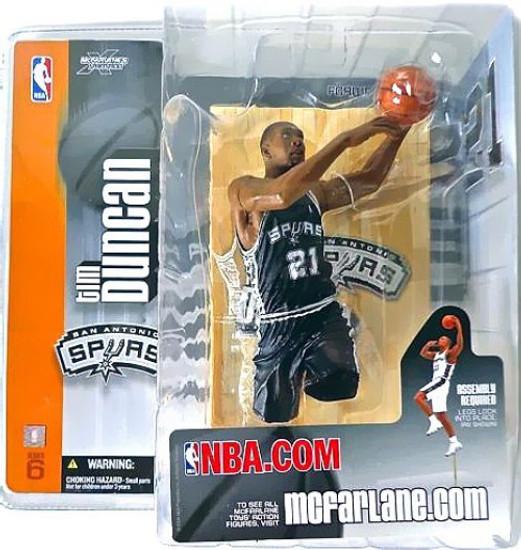 McFarlane Toys NBA San Antonio Spurs Sports Picks Series 6 Tim Duncan Action Figure [Black Jersey Variant]