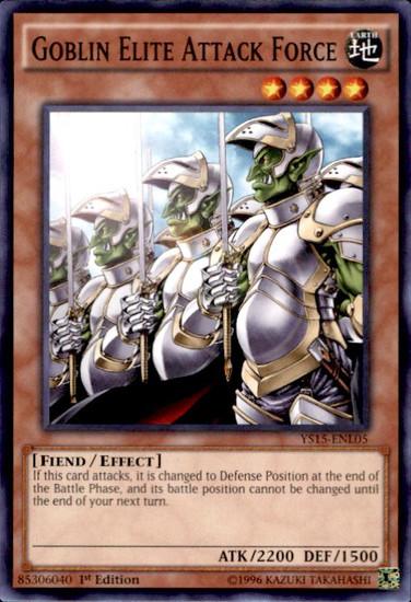 YuGiOh 2015 Starter Deck Dark Legion Common Goblin Elite Attack Force YS15-ENL05