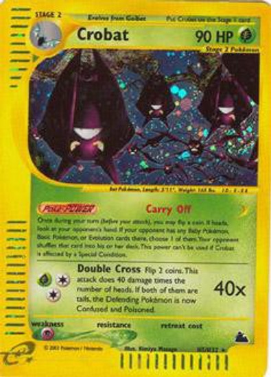 Pokemon Skyridge Rare Holo Crobat H5