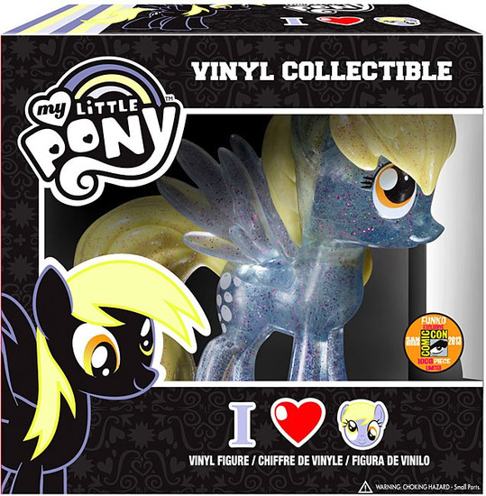Funko My Little Pony Vinyl Collectibles Glam Derpy Hooves Exclusive Vinyl Figure [Crystalized Glitterized Sparkelized, Damaged Package]