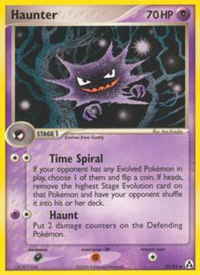 Pokemon EX Legend Maker Uncommon Haunter #35