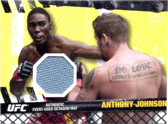 Topps UFC 2010 Championship Fight Mat Relic Anthony Johnson FM-AJ