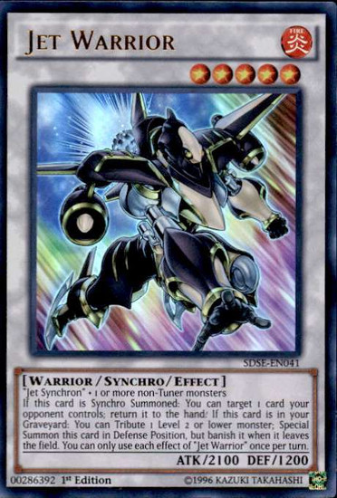 YuGiOh Synchron Extreme Structure Deck Ultra Rare Jet Warrior SDSE-EN041