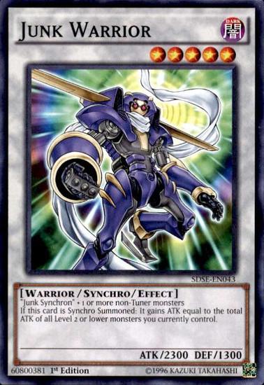 YuGiOh Synchron Extreme Structure Deck Common Junk Warrior SDSE-EN043