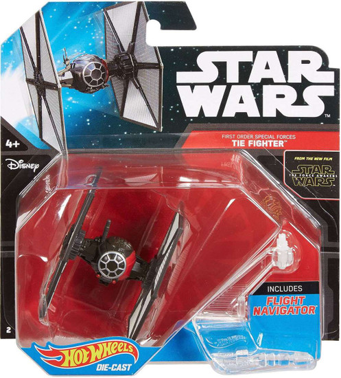 Star Wars The Force Awakens Hot Wheels First Order Special Forces TIE Fighter 3-Inch Diecast Car