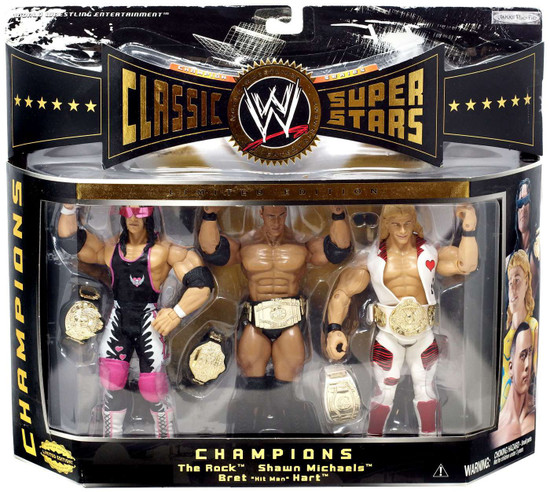 WWE Wrestling Action Figure Belt Classic Superstars Lot Of 2 Tag Team Accessory