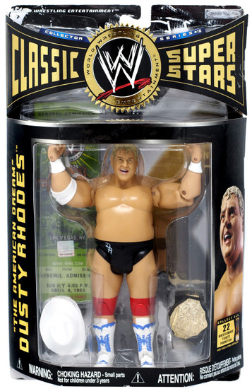 WWE Wrestling Classic Superstars Series 10 The American Dream Dusty Rhodes Action Figure