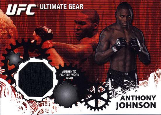 Topps UFC 2010 Championship Ultimate Gear Relic Anthony Johnson UG-AJ