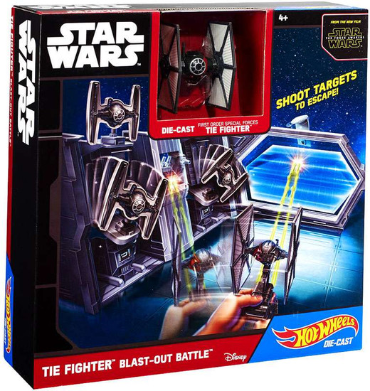 Star Wars The Force Awakens Hot Wheels Tie Fighter Blast-Out Battle Playset