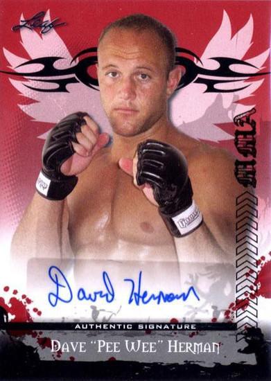 "MMA Series 2010 Dave ""Pee Wee"" Herman Autograph Card AV-DH1"