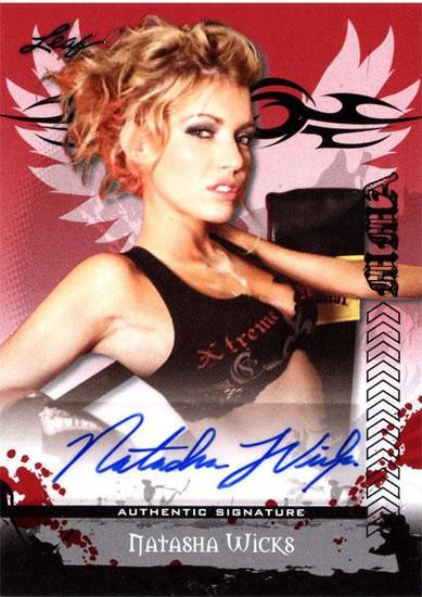 MMA Series 2010 Natasha Wicks Autograph Card AV-NW1