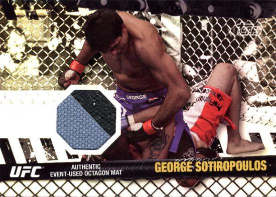 Topps UFC 2010 Championship Fight Mat Relic George Sotiropoulos FM-GS
