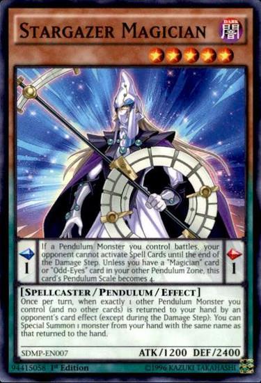 YuGiOh Master of Pendulum Structure Deck Common Stargazer Magician SDMP-EN007