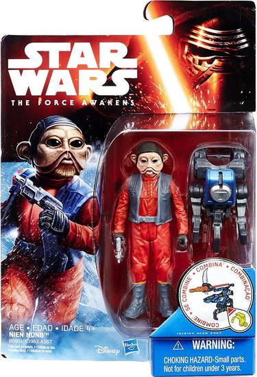 Star Wars The Force Awakens Snow & Desert Nien Nunb Action Figure
