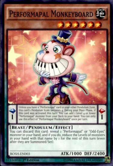 YuGiOh Breakers of Shadow Common Performapal Monkeyboard BOSH-EN003