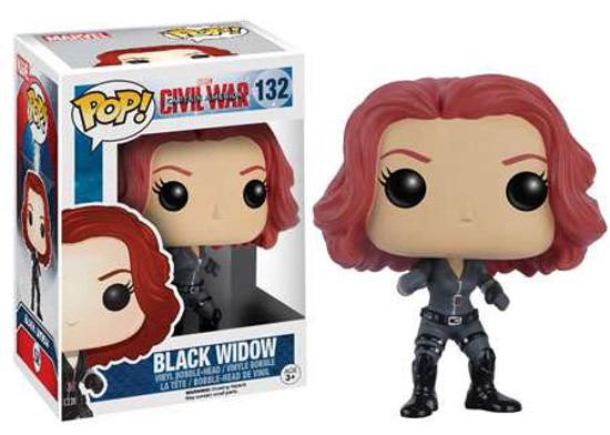 Funko Civil War POP! Marvel Black Widow Vinyl Bobble Head #132 [Civil War]