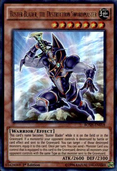 YuGiOh Breakers of Shadow Ultra Rare Buster Blader, the Destruction Swordmaster BOSH-EN018