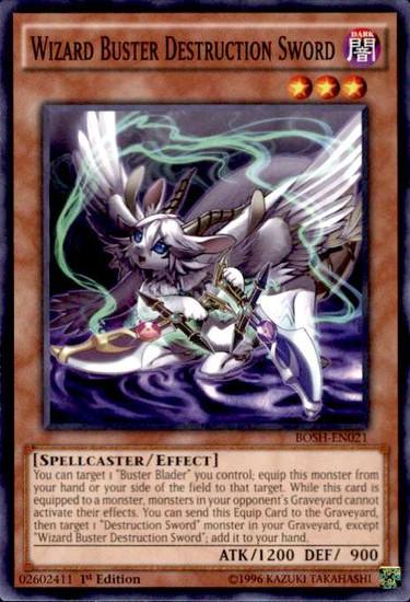 YuGiOh Breakers of Shadow Common Wizard Buster Destruction Sword BOSH-EN021