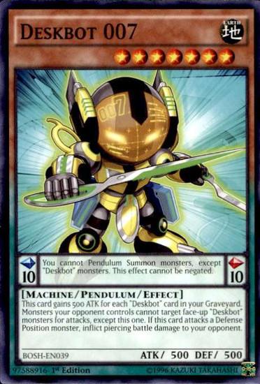YuGiOh Breakers of Shadow Common Deskbot 007 BOSH-EN039