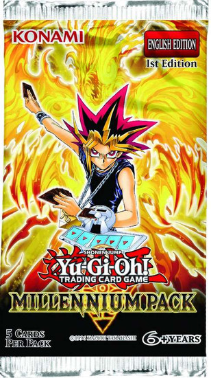 YuGiOh Trading Card Game Millennium Pack Booster Pack [5 Cards]