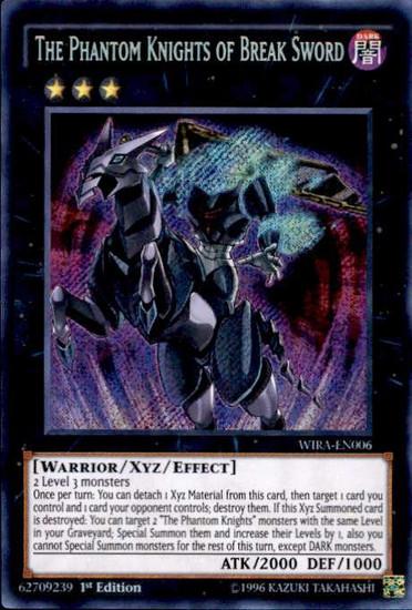YuGiOh Wing Raiders Secret Rare The Phantom Knights of Break Sword WIRA-EN006