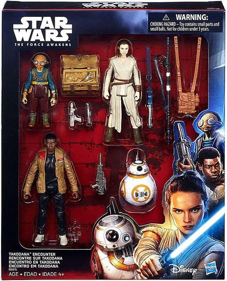 Star Wars The Force Awakens Takodana Encounter Action Figure 4-Pack [Maz Kanata, Rey, BB-8 & Finn]