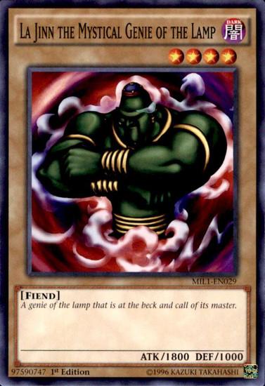 YuGiOh Millennium Pack Common La Jinn the Mystical Genie of the Lamp MIL1-EN029