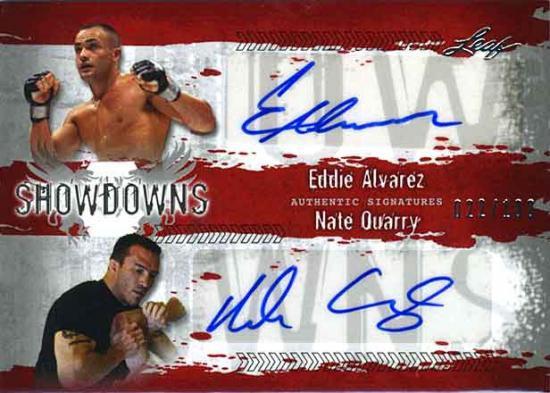 MMA Series 2010 Eddie Alvarez Vs. Nate Quarry Autograph Card ES1/NQ1