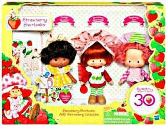 Strawberry Shortcake 30th Anniversary Collection Vintage Style Figure 3-Pack