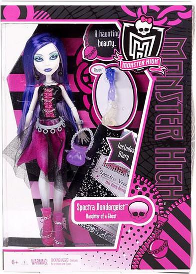 Monster High Spectra Vondergeist 10.5-Inch Doll [With Rhuen]