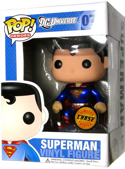 Funko DC Universe POP! Heroes Superman Vinyl Figure #07 [Metallic, Chase Version]