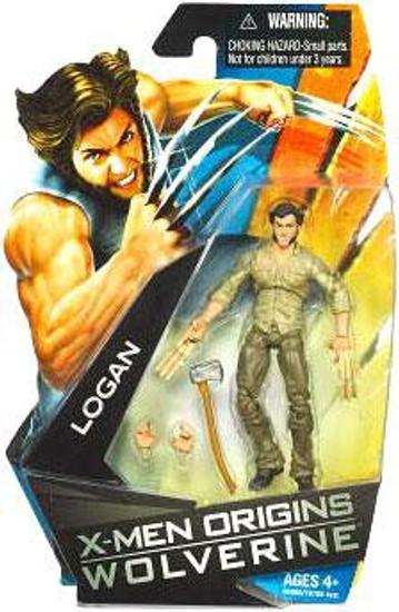 X-Men Origins Wolverine Movie Series Logan Action Figure [Bone Claws]