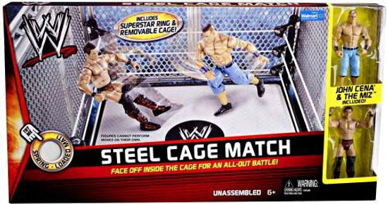 WWE Wrestling Playsets Steel Cage Match Exclusive Action Figure Playset