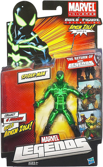 Marvel Legends Arnim Zola Series Spider-Man Action Figure [Black & Green Suit]