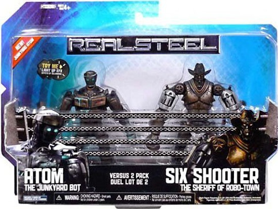 Real Steel Atom vs. Six Shooter Action Figure 2-Pack