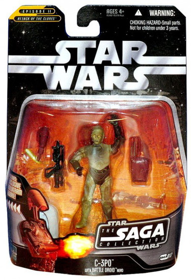 Star Wars Attack of the Clones 2006 Saga Collection C-3PO Action Figure #17 [With Battle Droid Head]