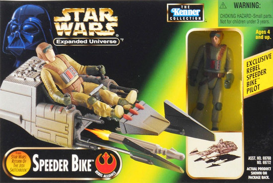 Star Wars Expanded Universe Power of the Force POTF2 Kenner Collection Speeder Bike Action Figure Vehicle